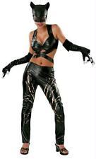 SEXY CATWOMAN BATMAN COSTUME DRESS GLOVES MASK SIZE L RU56019 NEW