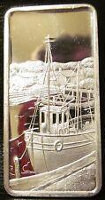 Sea Port 1 oz silver art bar America the Beautiful Hamilton Mint 1974