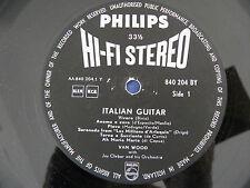 "Van Wood - Italian Guitar - VERY RARE 1st Press Dutch ""Philips"" HI-FI STEREO LP"
