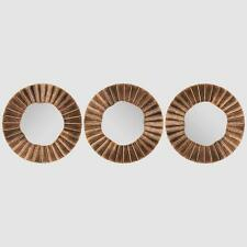 Set of 3 Moroccan Ora Mirrors Wall Hanging Mirrors Home Decor Modern - Bronze