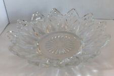 Vintage Federal Glass Clear Glass Flower Petal Bowl Candy Dish 5.5""