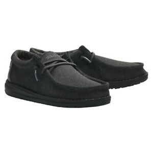 Hey Dude Children's Wally Black Shoes 130134900
