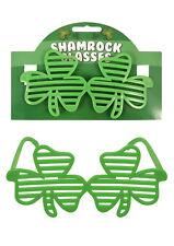 IRISH SHUTTER SHAMROCK GLASSES ST PATRICK'S DAY PARTY EVENT NOVELTY
