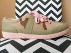HUNTER women's Canvas CAMO SNEAKERS Low Top Lace Up Desert Camouflage SAND 9 M