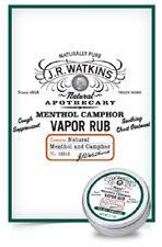 JR WATKINS Natural Menthol Camphor Vapor Rub - 95% Natural