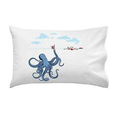 Octo trap Octopus Tricking Lifeguard in Ocean Funny Single Pillow Case Soft New