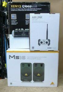 Behringer Xenyx Q1002USB MS16 Speakers Klark Teknik Airlink DW20R (AUD#2)