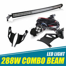 "FIT 2004-14 Ford F150 Curved 50""LED Light Bar w/Roof Windshield Mounting Bracket"