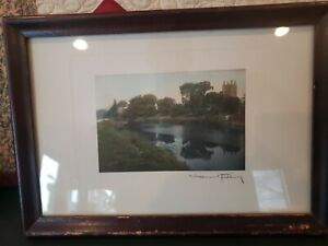 Rare Wallace Nutting signed print. HEREFORD.  12X 8.5