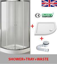 Quadrant Shower Enclosure Glass Door Walk In Corner Cubicle 800*800 plus tray