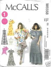M6558 WOMENS  PEASANT TOPS AND DRESSES SIZES  18-24  NEW MCCALLS PATTERN 6558