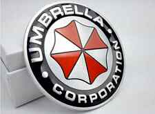 2pcs metal car umbrella corporation Aluminum 3D inside and outside stickers