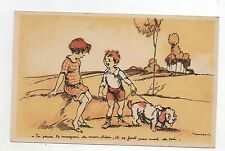 POULBOT. Carte postale Tu peux te moquer de mon chien...Zozo Montmartre 14