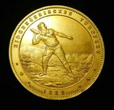 Switzerland 1888 Gilt Silver Medal Federal Gymnastics Festival - Spectacular!