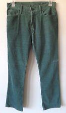 GAP 1969 Mens 32x30 Straight Green Cords Corduroy Pants Cotton Poly GUC