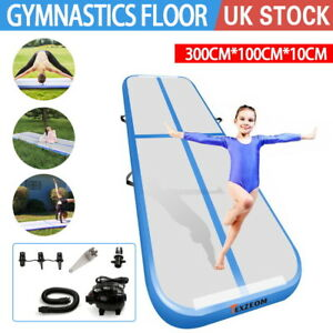 Inflatable Air Track 3M Gymnastics Professional Airtrack Yoga Sport With Pump UK