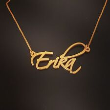14k Solid Yellow Gold Personalized Name Necklace, Erika necklace Order Any name