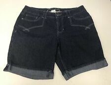 Sonoma Life+Style Women's Jean Shorts Mid-Rise Stretch Size 12P