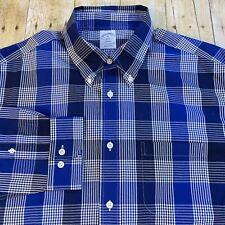 Brooks Brothers Regent Slim Fit Non Iron Plaid Supima Dress Casual Shirt XL