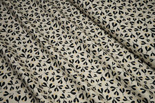 Moda White Christmas Leaves graphit gold metallic 1653-12M by zen chic 0,5m