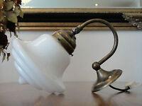 Wandlampe Jugendstil Wandleuchte Antik Messing Lampe Tropfen Glas Art déco Edel