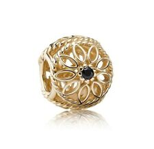 NEW! Authentic Pandora 14K Gold Delicate Beauty Charm #750821SPB w/Hindged Box