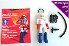 """(A011) Vintage 1980's Starcom Toys ~ """"LONE WOLF"""" Star Command EUROPEAN EXCLUSIVE"""