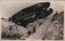 WWI RPPC Postcard Copyright C.E.L. - Destroyed Boche Tank PC31