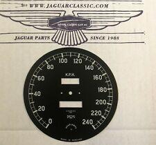 Zifferblatt Tachometer kmh/kph, 110 auf 12 Uhr, XK120/140, korrekte Replika