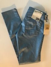 Rag & Bone legging sky blue metallic size 28