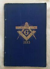 1893 MASONIC CONSTITUTION & CODE - GRAND LODGE OF IOWA
