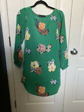 Haute And Rebellious Green Floral Dress Size Small