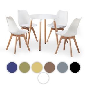 Halo Round Table & Lorenzo Jamie Tulip Chair | Eiffel Inspired Chair | Set of 4