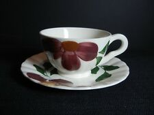 """Southern Potteries Blue Ridge:  Lovely """"Windflower"""" Cup and Saucer (6702)"""