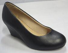 Girls Dress Shoes Wedge Heel (doris23k) Kid Flower Girl Pageant Black