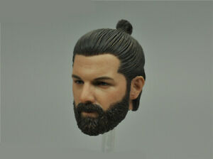 """1/6 Scale Halo Male Head Sculpt Carved Model Toy for 12"""" Action Figure Body"""