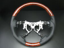 Toyota TUNDRA 2nd Gen 2007-2013 Burl wood genuine leather steering wheel-SPORTS