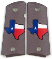 Custom Compact Officer 1911 Grips Ambidextrous Don't Mess with Texas Colt Sig