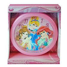 """Wall Clock 9.5"""" Quartz Disney Princess Belle Cinderella Ariel NIP"""