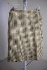 J.Crew 100% Cotton Multi-Colored Knee Length Lined A-Line Skirt Size - 8