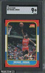 """1986-87 Fleer Basketball #57 Michael Jordan RC Rookie HOF SGC 9 """" PACK FRESH """""""
