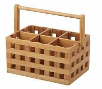 Davis + Waddell Essentials Lattice Bamboo Caddy