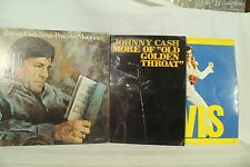 lot 3 lps Elvis Johnny Cash sings precious Memories More of old Golden Throught