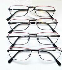 4 pair Power +1.0 READING GLASSES metal frame women's clear readers Lot # II16