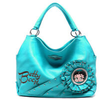 Betty Boop Turquoise Blue Leather Hobo Style Purse