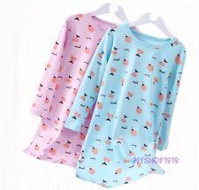 Girls Nightdress Nightie Pyjamas Cotton Long sleeve Nightwear Age 2-12 Years