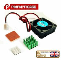 5v Cooling Fan + 3 Piece Silver Green and copper Heat sink for Raspberry Pi