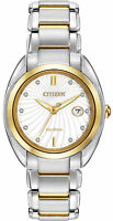 Citizen Eco-Drive L Celestial Two Tone White Dial Women's Watch EM0314-51A SD