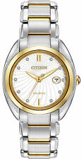 Citizen Eco-Drive L Celestial Two Tone White Dial Women's Watch EM0314-51A SD