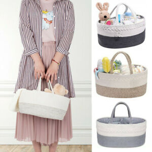 Baby Diaper Wipes Bag Caddy Baby Bottle Storage Infant Nappy Organizer Basket